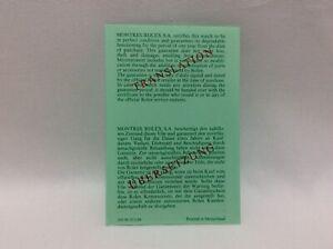 Rolex Vintage 80's Translation Certification 569.00.20.6.88 Paper + free post