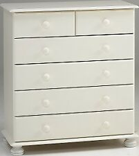 Richmond white 2+4 drawer bedroom solid chunky furniture chest of drawers unit