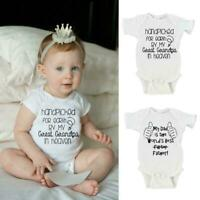 Baby Boy Girl Hand Picked For Earth by my Grandad Triangle Bodysuit Printed