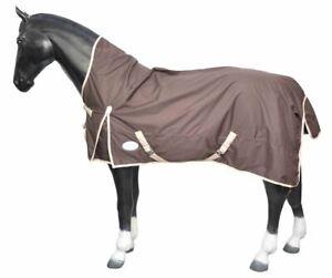 600 Denier Horse Turnout Rugs HALF Neck Waterproof Coated Teflon Brown 4'6 / 4'9