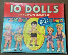 "1947 Lowe Publishing ""10 Dolls With Complete Wardrobe"" #2576 Pristine & Uncut"