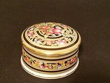 WEDGEWOOD Bone China Clio Pattern England 1992 Round Black Pink Floral Gold Trim