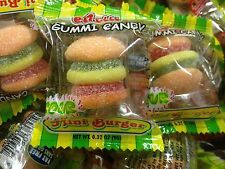 60 COUNT EFRUTTI SOUR GUMMY MINI BURGERS FLAVORED CANDY PARTY FAVOR GOODY BAGS