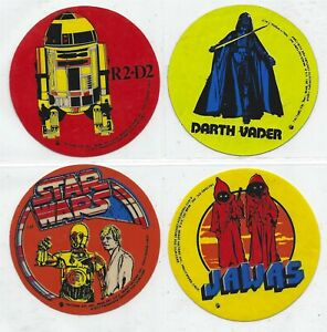Star Wars vintage 8 different FACTORS button stickers (1977) EXTREMELY RARE