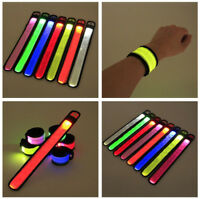 SLAP LED LIGHTED BRACELET BAND Glow Flash running cycling night safety jogging
