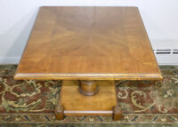 Drexel Heritage pedestal side end table Spanish Revival Neoclassical 205-105