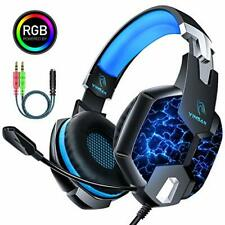 Casque PS4 Gaming Gamer Xbox One Micro Anti Bruit Reglable LED Lampe Stereo Bass