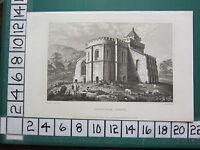 C1830 Antik Yorkshire Aufdruck ~ Lestingham Kirche
