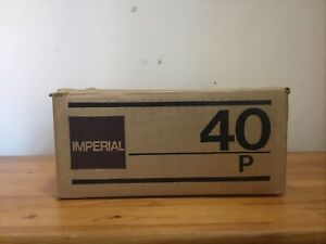 Vintage Imperial Calculator 40P & Instructions & Clips & Roll - BOXED - TESTED