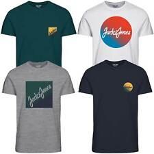 Jack & Jones Herren T-Shirt mit Rundhalsausschnitt kurzarm Sport Clubwear Party