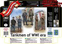 Master Box 35134 WWI French, German, British Private & Officer Tankmen kit 1/35
