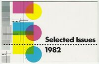 1982 AUSTRALIA STAMP PACK 'SELECTED ISSUES - WITH 5 x 27c & 1 X 24c MNH STAMPS