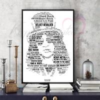Slash Guns n' Roses Word Art Portrait Collectable/Memorabilia/Keepsake/Gift
