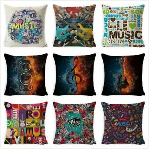 Music Series Note Cushion Cover Printed Decora Cushion Case Pillow Cover Seat