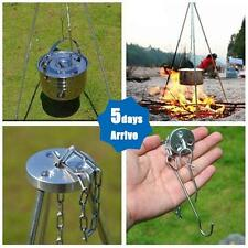 Outdoor Firepit Cooking Tripod Hanging Dutch Oven Pot Pan Campfire Stand Camping