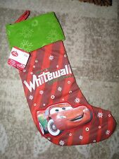 "Disney Cars McQueen Whitewall 18.5"" Holiday Stocking~ New!"