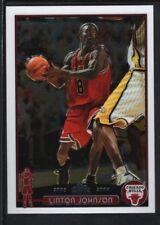 LINTON JOHNSON 2003/04 TOPPS CHROME #161 RC ROOKIE CARD BULLS SP MINT