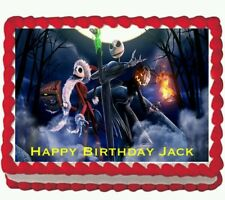 Jack Nightmare Before Christmas Party Icing Edible Cake Topper Image 1/4 sheet