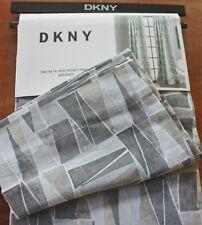 DKNY ~ Abstract PAIR Window Drape Panels ~ Gray Geometric Curtains NEW 50 x 96
