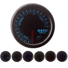 """Universal 2"""" 52mm 7 Colors LED Car Auto Air Fuel Ratio Gauge Meter No Sensor"""