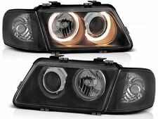 HEADLIGHTS LHD/RHD LPAU10 AUDI A3 HATCHBACK 1996 1997 1998 1999 2000 ANGEL EYES