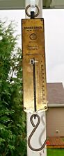 Antique 1890s - 1910s Cast Iron & Brass 100# Forschner Hanging Advertising Scale