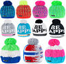 Unisex Kids Children Knitted Beanie Hat Hats Cap Winter Worm Girls Boys Bubble