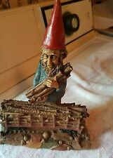 Vintage Tom Clark Gnome Lumberjack 5401 #93 certificate of authenticity included