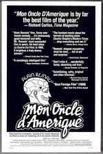 MON ONCLE D'AMERIQUE Movie POSTER 27x40 Gerard Depardieu Nicole Garcia