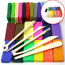 5 Tool+32 Color Oven Bake Polymer Clay Block Moulding Sculpey Toys Set Latest