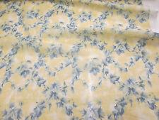 """Crema & Azul"""" Brezo """"Estampado Floral 100% Voile de algodón tejido"""