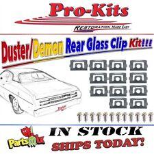 Fits Rear Window Molding Clip Kit 70-76 Duster & 71-72 Demon