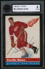 """1954 55 Topps #8 Gordie Howe """"Mr. Hockey"""" KSA 4 Detroit Red Wings Rare"""