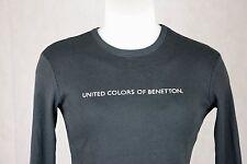 Camiseta con mangas para Mujeres Benetton, Talla S, Color negro