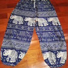 Trouser Thai Elephant Harem Smock Waist Boho Yoga Style Woman Pants Multi Colors
