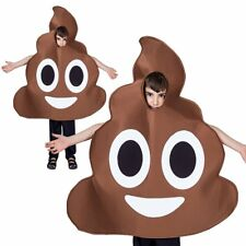 Child Kids Emoji Smiley Pooper Poop Halloween Funny Fancy Dress Up Party Costume