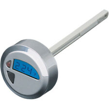 Billet Aluminum LCD Oil Temperature Gauge Dip Stick For Harley Softail 2000-2015