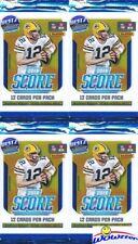 (4) 2018 Score Football Factory Sealed Retail Packs-48 Cards-Lamar Jackson RC YR