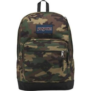 Jansport Mens City Scout Green Camouflage Laptop School Backpack O/S BHFO 3867