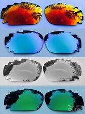 REPLACEMENT ICE/FIRE/SILVER/GREEN MIRRORED VENTED OAKLEY JAWBONE & RACING LENSES