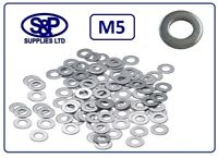 "M5 - 5mm - 3/16"" STAINLESS STEEL WASHER FLAT WASHER GRADE 304 / A2 ST/STEEL"