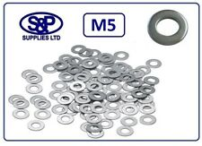 """M5 - 5mm - 3/16"""" STAINLESS STEEL WASHER FLAT WASHER GRADE 304 / A2 ST/STEEL"""