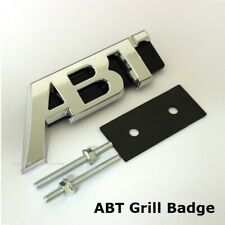 New Chrome ABT Front Grill Badge Emblem Decal For VW Golf Audi Seat Skoda