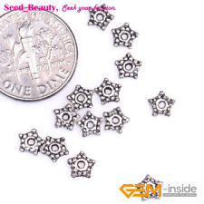 100PCS Bali Style Alloy Metal Loose Spacer Beads for Jewelry Making 6x6mm