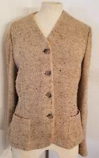 Vintage Ralph Lauren Black Label Tweed Jacket 100% Silk Sz 12 Union Label Womens