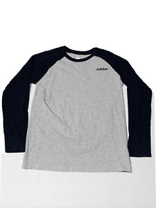 Adidas Long Sleeve Gray and Black Shirt Youth Large