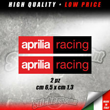 2 Adesivi APRILIA RACING sticker moto RSV4 RS TUONO RSV - CAP003