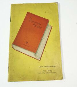 Jubiläums Katalog Paul Parey Berlin Verlag 1894 (H5