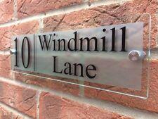 Número De Puerta Placa De Casa Moderna signo de Cristal Efecto Acrílico Grabado De Nombre De Calle