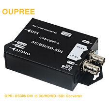 DVI to 3G/HD/SD-SDI Converter Video Audio Adapter Extender Coaxial Cable Camera